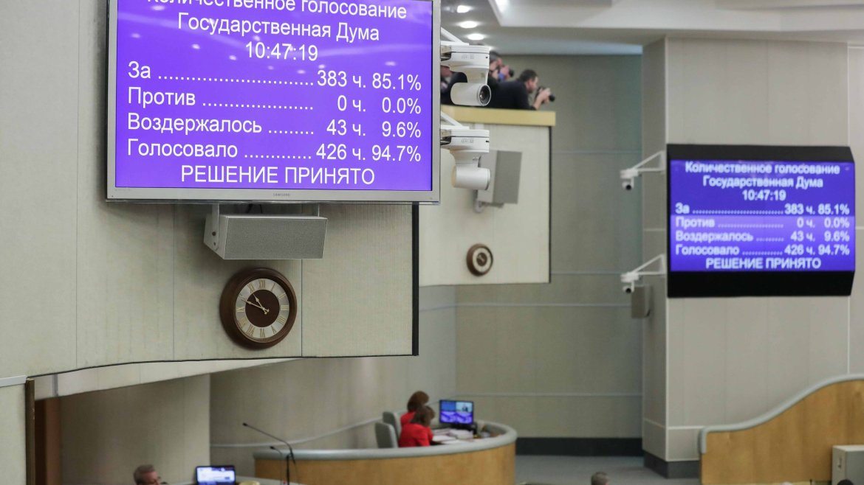 Госдума приняла поправки в Конституцию в третьем чтении