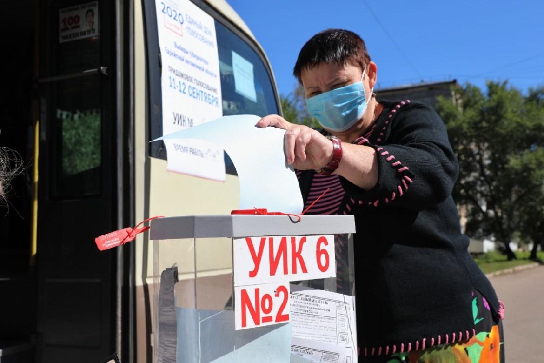 Более 57 % избирателей ЕАО проголосовали 11 и 12 сентября