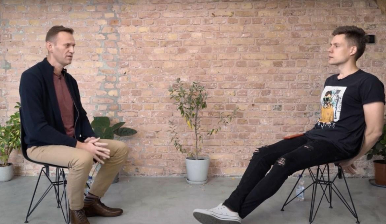Навальный дал интервью Дудю и рассказал про случившееся 20 августа