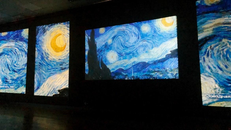 «Звездная ночь» Винсента Ван Гога оживает  и окутывает на мультимедийной выставке в МСИ ЕАО