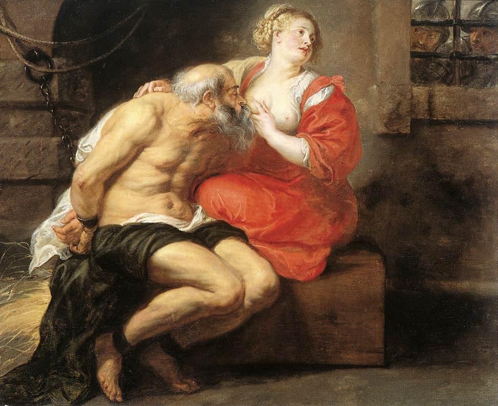 """Pedro Pablo Rubens. """"Cimón y Pero"""" 1625. Rijksmuseum de Amsterdam"""