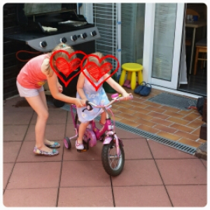 Fahrrad, fahren, Kind