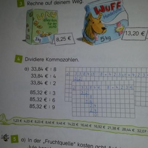 Mathe, Hausaufgaben, 4.Klasse