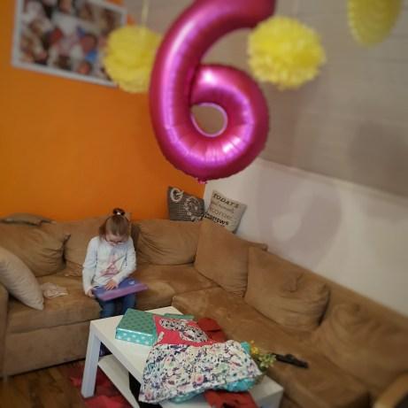 Geburtstag, Kind, lachen, 6 Jahre