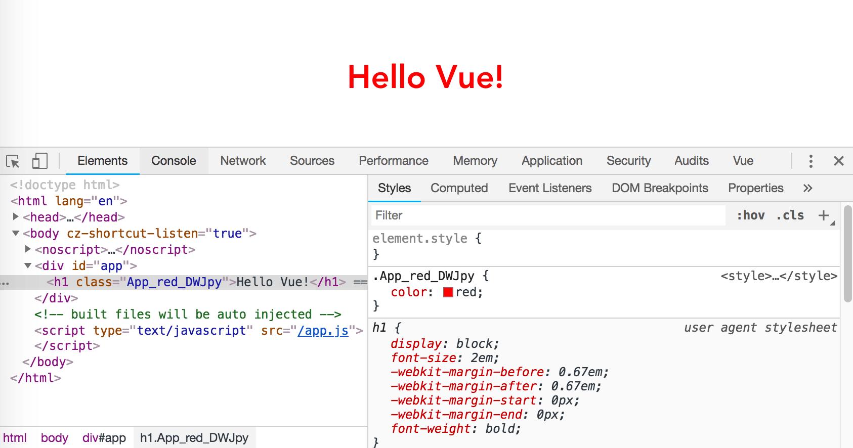Vue.js 與 CSS Modules | Kuro's Blog