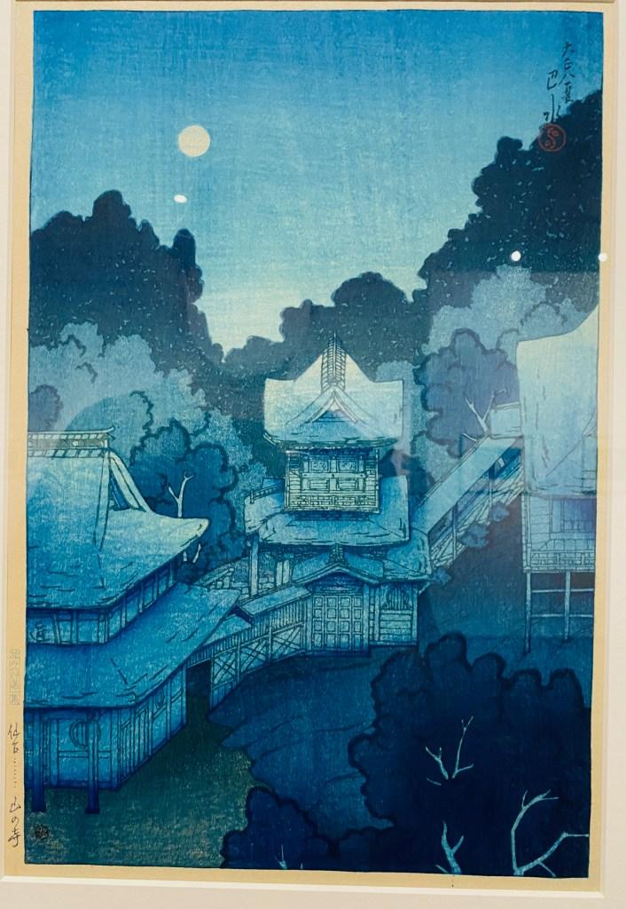 旅みやげ第一集 仙台山の寺 川瀬巴水