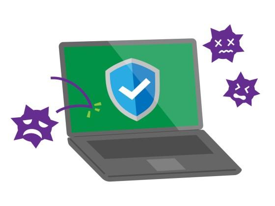 ウイルスソフトでウイルスをブロック