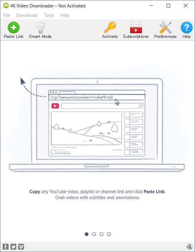 4K Video Downloader main interface