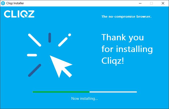 Cliqz browser install