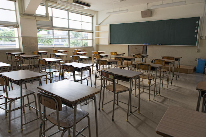 Students are assigned to one classroom for the year