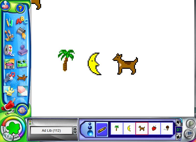 A screenshot of Kid Pix Deluxe 4