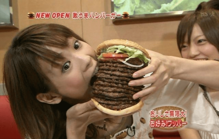 japanese tv new burger place