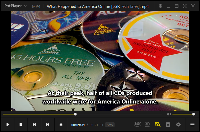 Screenshot of a downloaded video from YouTube being played in Pot player
