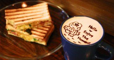 宜蘭礁溪美食 初一食午早午餐 百元有找帕尼尼 手繪飲料圖案可愛