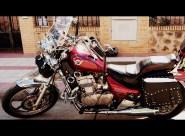 alforja moto custom cuero pu MOD-012-ESG