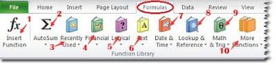 fitur dalam menu Formulas