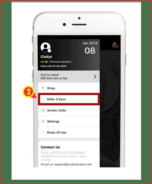 Navigasi kode referral aplikasi club Alacarte.png