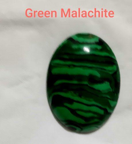 Batu malachite oval untuk chabochon