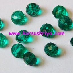 Manik kristal bulat 10 mm hijau