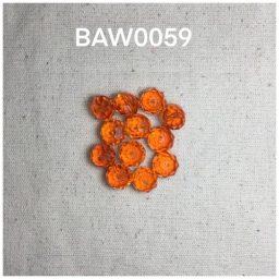 Manik kristal bulat facet dark orange