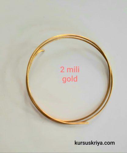 Kawat asesoris tembaga 2 mm,gold dof