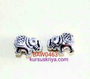 Manik logam gajah silver 10 mm