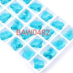 Manik Kaca 14 mm kupu kupu aquamarine