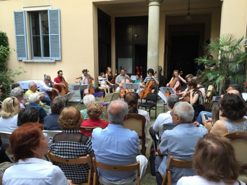A courtyard concert in Milan.