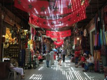 Wandering around in the market in Marrakech, Morocco.