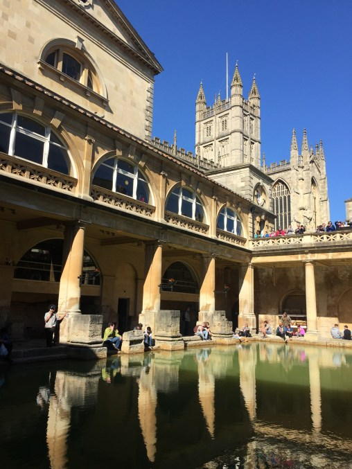 The Roman Bath in Bath, England.
