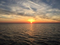 Watching the sunset on the Adriatic Sea.