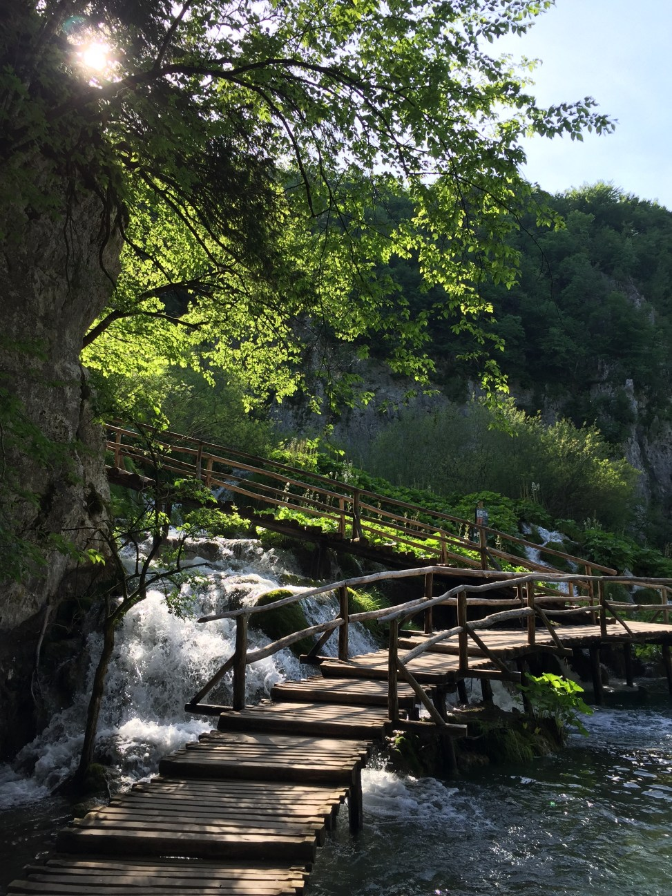 Trekking in the Plitvice Lakes National Park, Croatia.