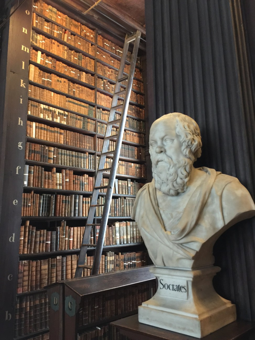 Bust of Socrates in the Trinity College Library in Dublin, Ireland.