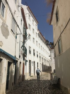 The Old Man and the Street in Lisboa, Portugal.