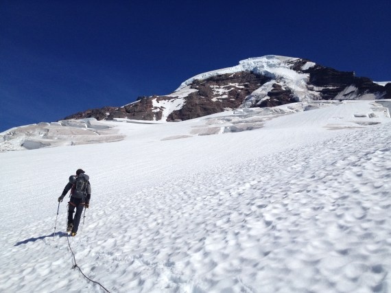 Crossing the Coleman Glacier, Mount Baker