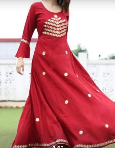 Full length kurti Navratra ans Karwachauth special