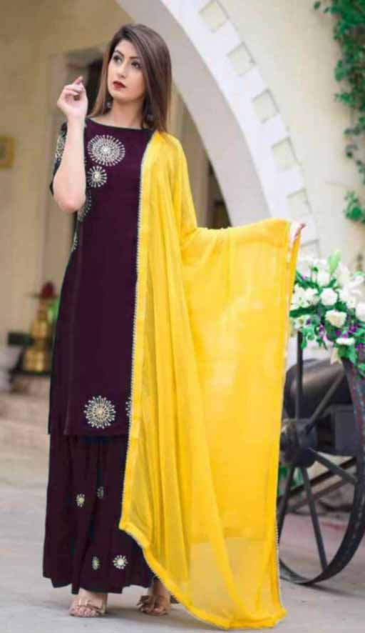 designer kurti plazo sets with duppatta