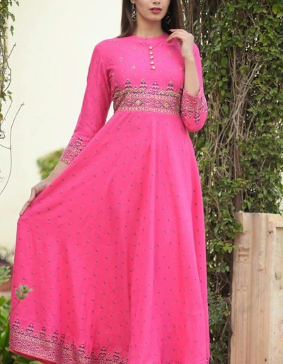 Beautiful long rayon slub gown
