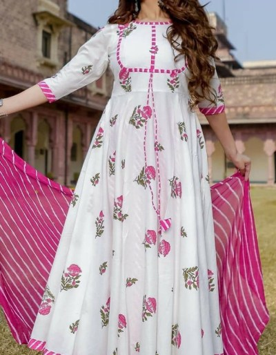 Kurti, palazzo, dupatta set with and handprint and lahariya set