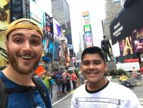 Kurt Kaiser time square with little