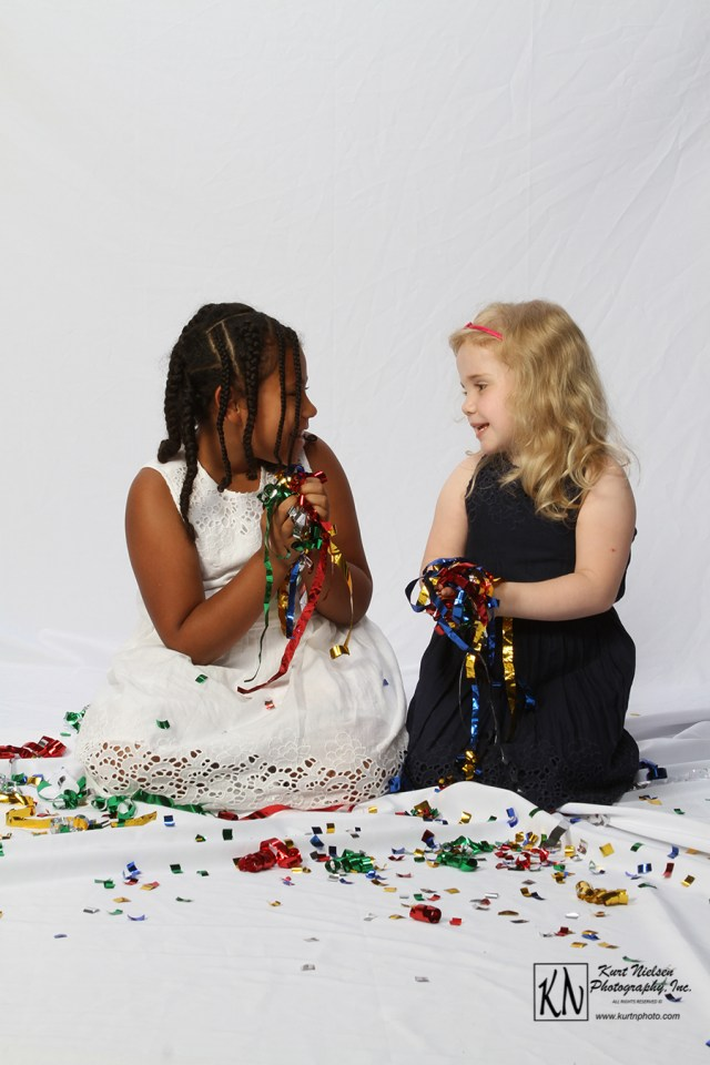 cousins confetti shoot by Kurt Nielsen photography