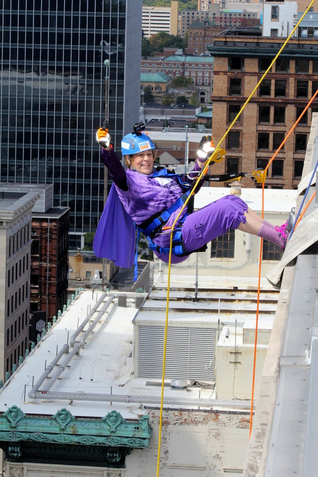 The Victory Center Over the Edge Rappelling Challenge
