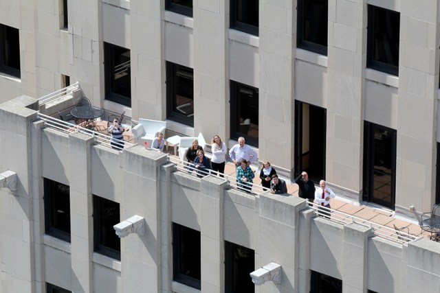 downtown viewing balcony