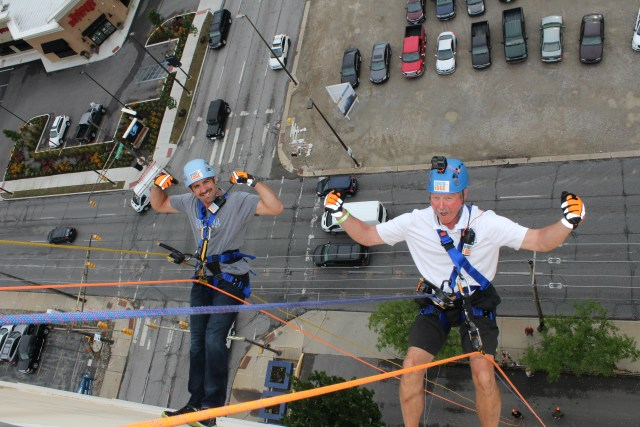 GiGi's Playhouse of Fort Wayne Over the Edge fundraiser