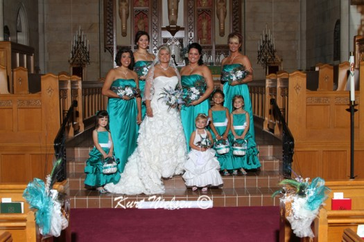 Long Teal Bridesmaids Dresses