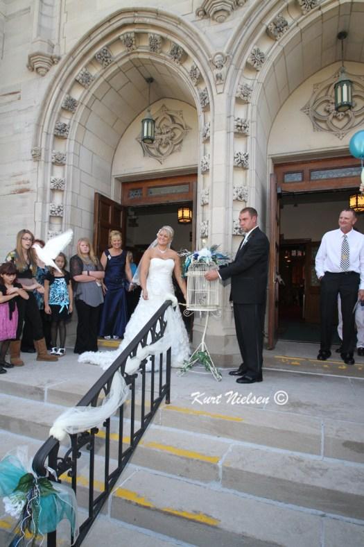 Wedding Dove Release Photos