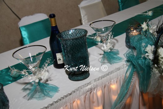 Teal Wedding Table Decorating Ideas