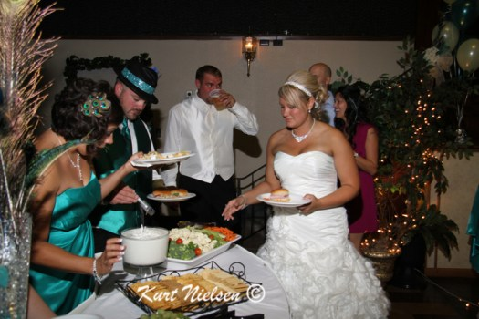 Bridal Party Buffet Line