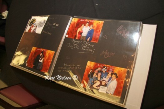 scrapbook made from photo booth photos at weddings