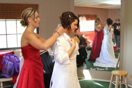 Helping the Bride get ready